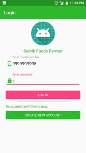 Satvik Food App Login