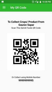 Satvik Food scanner QR code