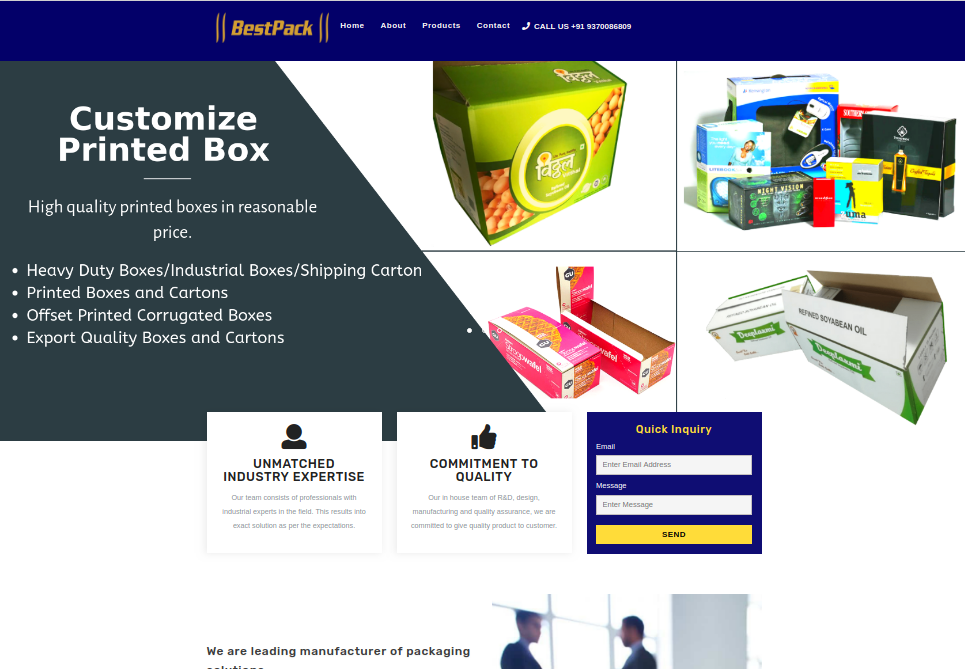 Bestpack Website details