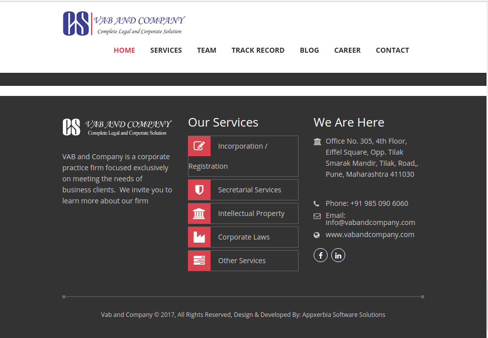 Vab And Company Website